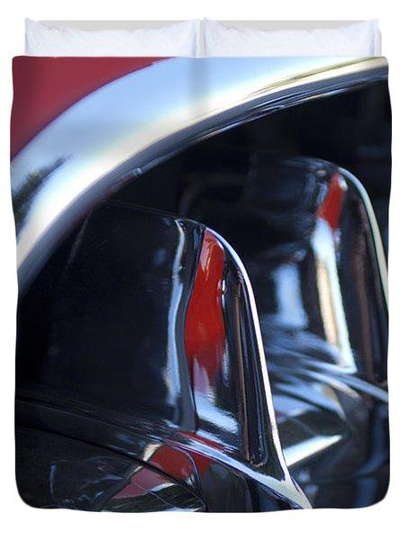 1957 Chevrolet Corvette Grille Duvet Cover by Jill Reger