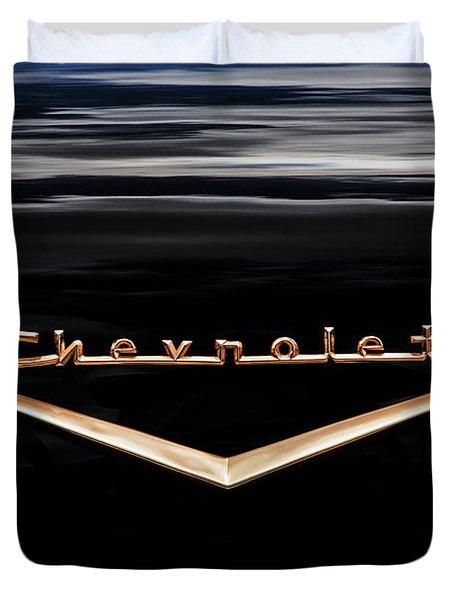 1957 Chevrolet Emblem Duvet Cover
