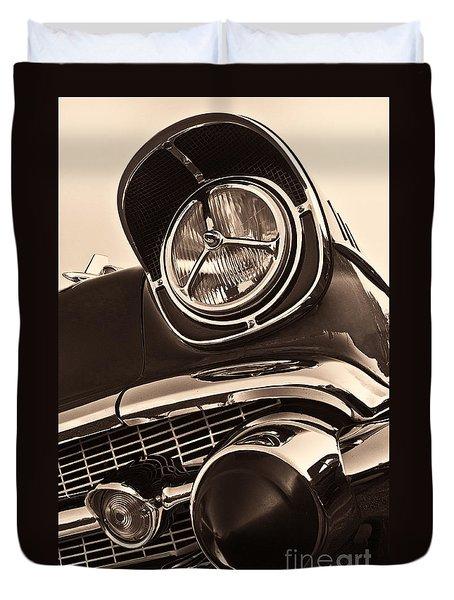 1957 Chevy Details Duvet Cover
