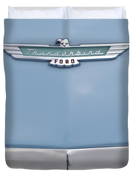1957 Ford Thunderbird Hood Ornament 2 Duvet Cover