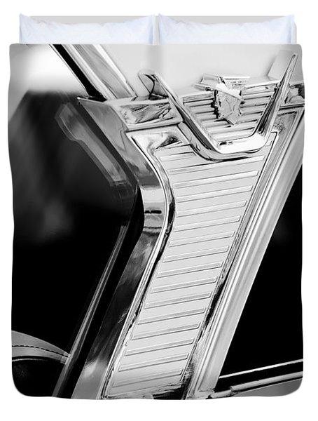 1957 Mercury Monterey Sedan -1030bw Duvet Cover
