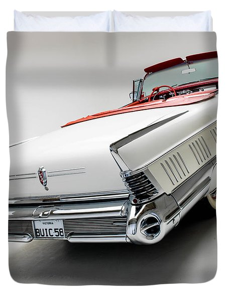 1958 Buick Limited Convertible Duvet Cover