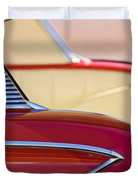 1958 Chevrolet Belair Abstract Duvet Cover by Jill Reger