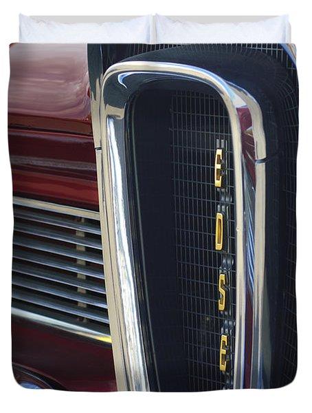 1958 Edsel Pacer Grille 2 Duvet Cover by Jill Reger