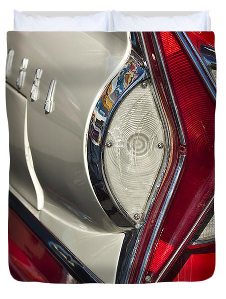 1958 Edsel Wagon Tail Light Duvet Cover