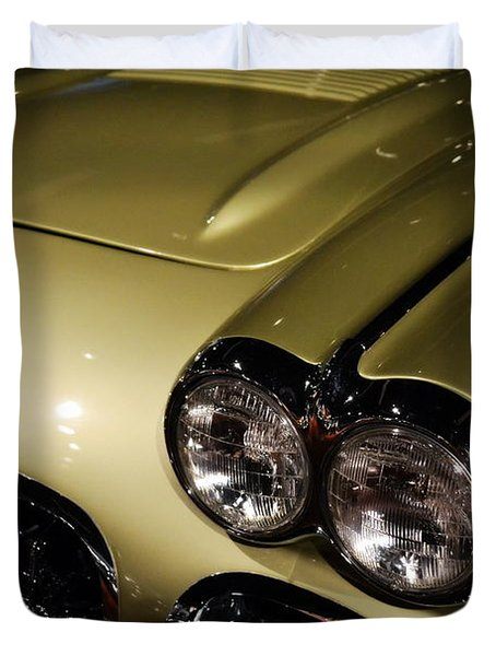 1958 Fancy Free Corvette J58s Duvet Cover
