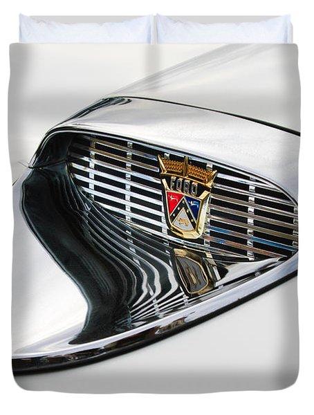 1958 Ford Hood Emblem Duvet Cover
