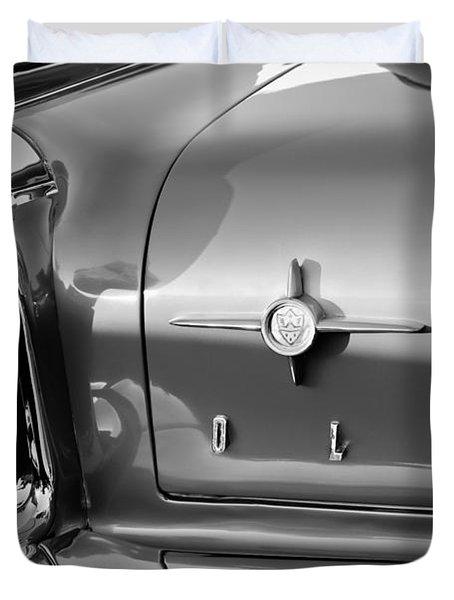 1958 Oldsmobile 98 Taillight Emblem Duvet Cover