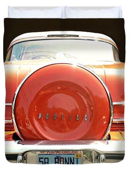 1958 Pontiac Bonneville Duvet Cover
