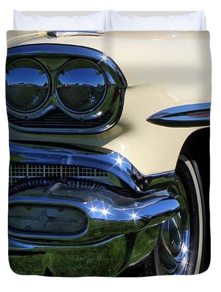 1958 Pontiac Strato Chief Duvet Cover by Davandra Cribbie