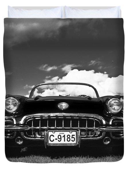 1958 Vintage Chevrolet Corvette  Duvet Cover by Gianfranco Weiss