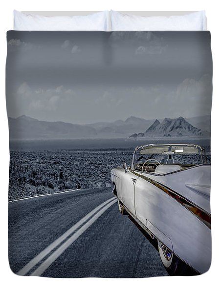 1959 Cadillac Eldorado Cool Night Duvet Cover