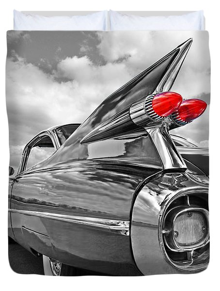 1959 Cadillac Tail Fins Duvet Cover