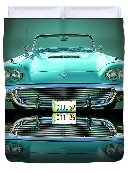 1959 Ford T Bird Duvet Cover