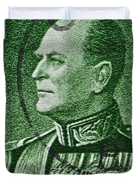 1959 King Olav V Norway Stamp - Oslo Postmark Duvet Cover by Bill Owen