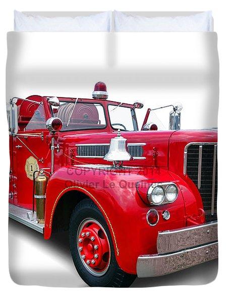 1959 Maxim Fire Truck Duvet Cover