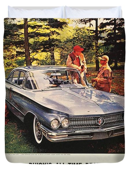 1960 - Buick Lesabre Sedan Advertisement - Color Duvet Cover