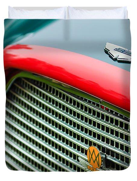1960 Aston Martin Db4 Gt Coupe' Grille Emblem Duvet Cover by Jill Reger