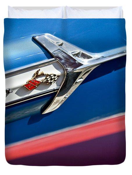 1960 Chevrolet Impala Emblem 7 Duvet Cover by Jill Reger