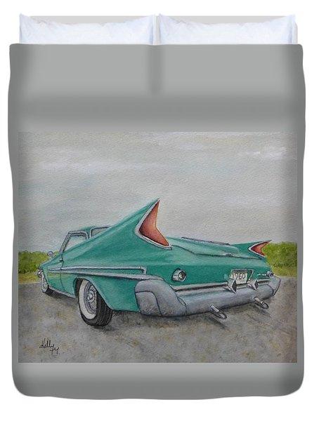 1960 Classic Saratoga Chrysler Duvet Cover