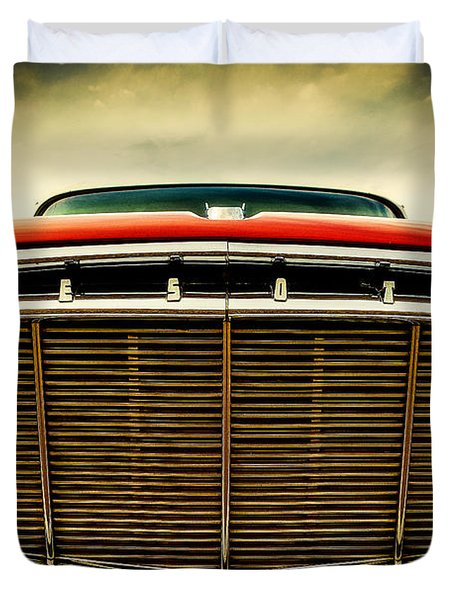 1960 Desoto Fireflite Coupe Grill Duvet Cover