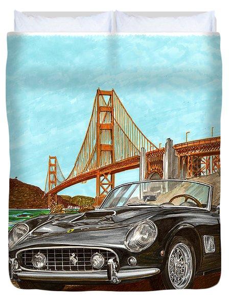 1960 Ferrari 250 California G T Duvet Cover by Jack Pumphrey