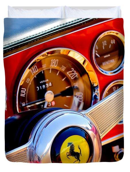 1960 Ferrari 250 Gt Cabriolet Pininfarina Series II Steering Wheel Emblem -1319c Duvet Cover