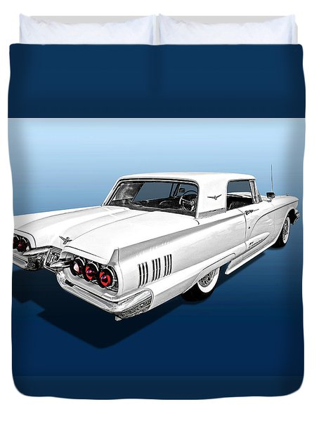 1960 Ford Thunderbird Duvet Cover