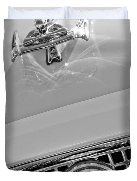 1960 Nash Metropolitan Hood Ornament Duvet Cover by Jill Reger