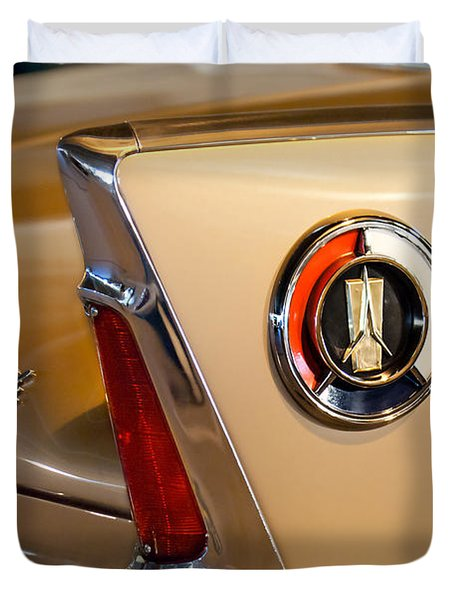 1960 Plymouth Fury Convertible Taillight And Emblem Duvet Cover by Jill Reger