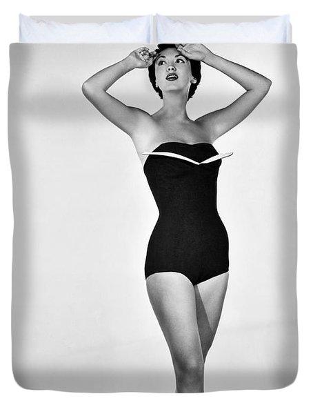 1960s Bathing Suit Design Duvet Cover