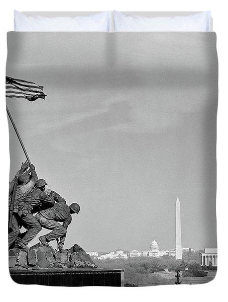 1960s Marine Corps Monument Duvet Cover