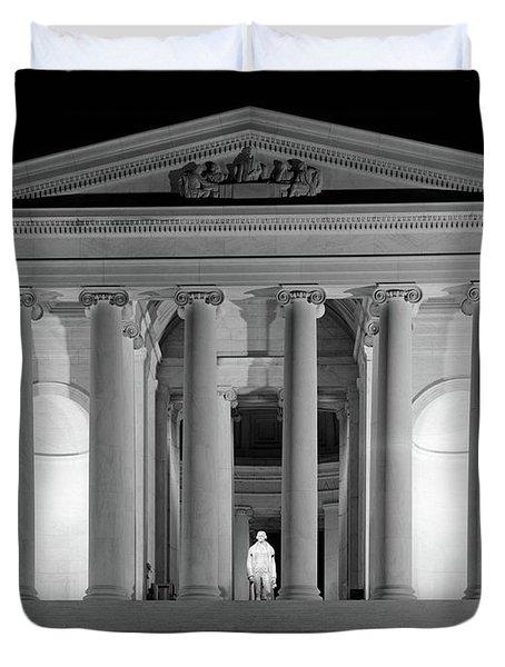 1960s Thomas Jefferson Memorial Lit Duvet Cover