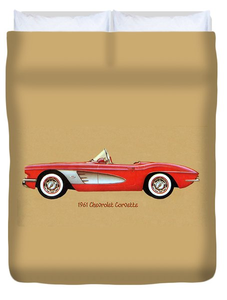 1961 Chevrolet Corvette Duvet Cover