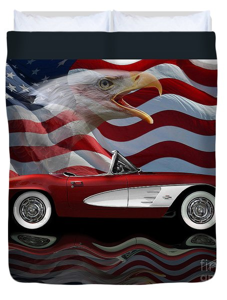 1961 Corvette Tribute Duvet Cover