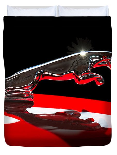1961 Jaguar Kougar Hood Ornament -0569c Duvet Cover
