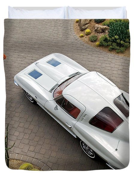 1963 Chevrolet Corvette Split Window -440c Duvet Cover