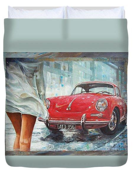 1963 Porsche 356 C Duvet Cover