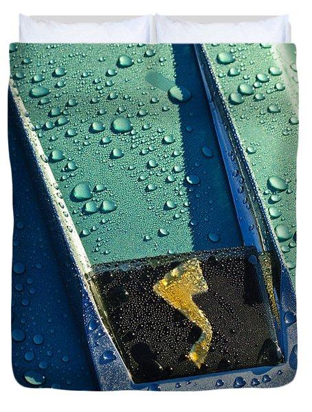 1963 Studebaker Avanti Hood Ornament Duvet Cover by Jill Reger