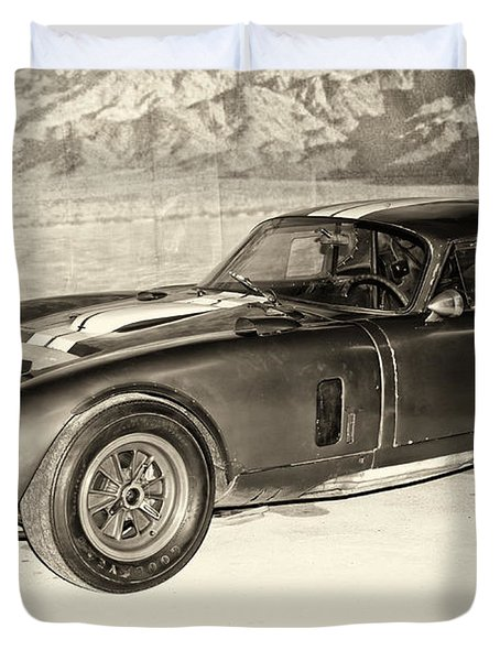 1964 Cobra Daytona Coupe Duvet Cover by Boris Mordukhayev