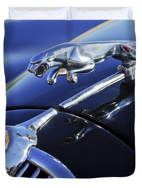 1964 Jaguar Mk2 Saloon Duvet Cover by Jill Reger