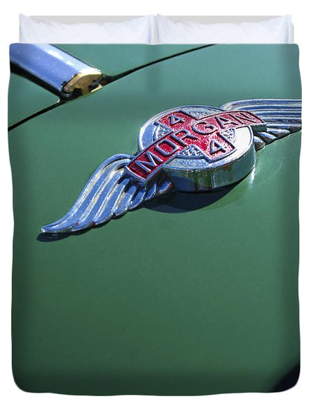 1964 Morgan 44 Hood Ornament Duvet Cover by Jill Reger