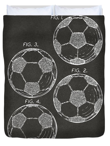 1964 Soccerball Patent Artwork - Gray Duvet Cover by Nikki Marie Smith