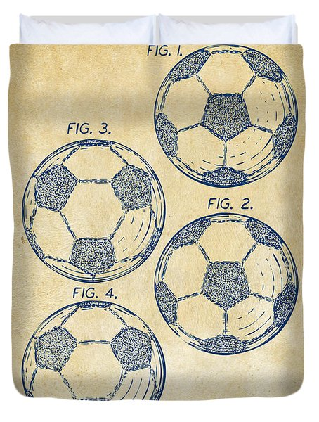 1964 Soccerball Patent Artwork - Vintage Duvet Cover by Nikki Marie Smith
