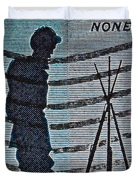 1965 Civil War Centennial Stamp Duvet Cover