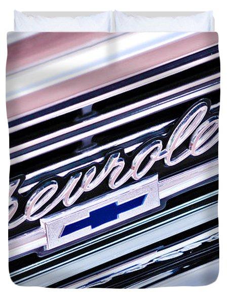 1966 Chevrolet Biscayne Front Grille Duvet Cover by Jill Reger