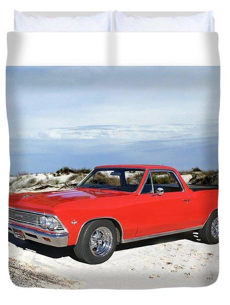 1966 Chevrolet El Camino 327 Duvet Cover by Jack Pumphrey