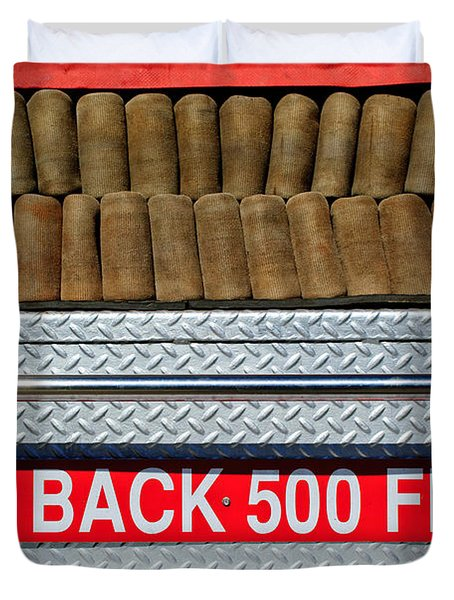 1966 Ford Young Fire Engine Duvet Cover