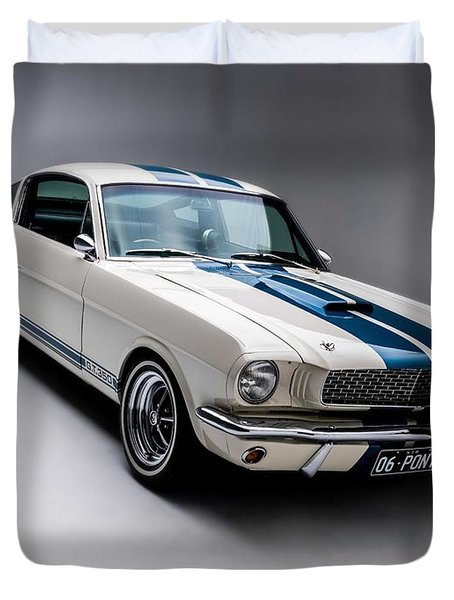 1966 Mustang Gt350 Duvet Cover by Gianfranco Weiss