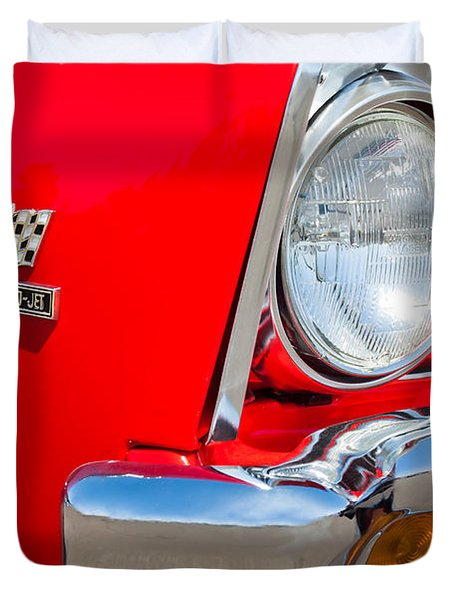 1967 Chevrolet Chevelle Ss Emblem Duvet Cover by Jill Reger